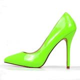 Grön Neon 13 cm AMUSE-20 spetsiga pumps med stilettklackar