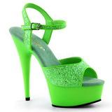Grön Neon 15 cm Pleaser DELIGHT-609UVG Platå Högklackade Skor