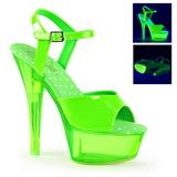 Grön Neon 15 cm Pleaser KISS-209UVT Platå Högklackade Skor