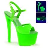 Grön Neon 18 cm Pleaser SKY-309UV Platå Högklackade Skor