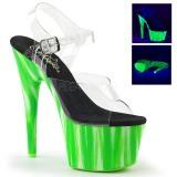 Grön neon 18 cm Pleaser ADORE-708UVP pole dance skor