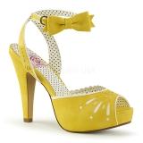 Gul 11,5 cm Pinup BETTIE-01 högklackade sandaletter