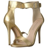 Guld 13 cm Pleaser AMUSE-10 högklackade sandaletter