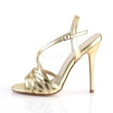 Guld 13 cm Pleaser AMUSE-13 högklackade sandaletter