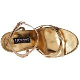 Guld 15 cm DOMINA-108 fetish sandaler med stilettklack