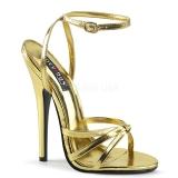 Guld 15 cm Devious DOMINA-108 h�gklackade sandaletter