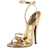 Guld 15 cm Devious DOMINA-108 högklackade sandaletter