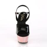 Guld 15 cm Pleaser KISS-209 Sandaletter med krom platå