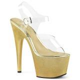 Guld 18 cm ADORE-708HG Hologram platå klackar skor