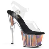 Guld 18 cm ADORE-708HGI Hologram platå klackar skor