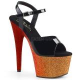 Guld 18 cm ADORE-709OMBRE glittriga platå sandaler skor