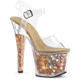 Guld 18 cm RADIANT-708BHG Hologram platå klackar skor