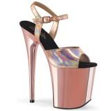 Guld 20 cm FLAMINGO-809HG pleaser high heels skor