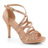 Guld 9,5 cm DAPHNE-42 Sandaletter med stilettklack