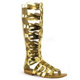 Guld ATHENA-200 knähöga gladiator sandaler för damer