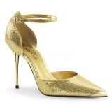 Guld Glitter 10 cm APPEAL-21 stiletter pumps med metallklack