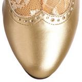 Guld Matt 5 cm FUNTASMA DAME-115 Retro Stövletter