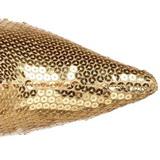 Guld Paljetter 9,5 cm FUNTASMA LUST-2001SQ Stövlar Dam