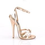 Guld Rosa 15 cm DOMINA-108 fetish sandaler med stilettklack