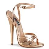 Guld Rosa 15 cm Devious DOMINA-108 h�gklackade sandaletter