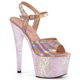 Guld glitter platå 18 cm ADORE-709HGG pleaser high heels skor