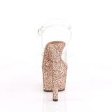 Guld glittriga klackar 18 cm Pleaser SKY-308LG pole dance skor