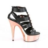 Guld krom platå 15 cm DELIGHT-658 pleaser high heels skor