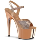 Guld krom platå 18 cm ADORE-709 pleaser high heels skor