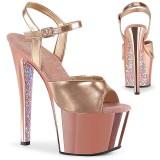 Guld krom platå 18 cm SKY-309TTG pleaser high heels skor
