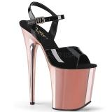 Guld krom platå 20 cm FLAMINGO-809 pleaser high heels skor
