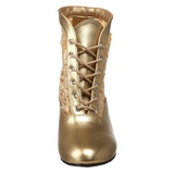 Guld spets tyg 5 cm DAME-05 Dam Boots med Snörning