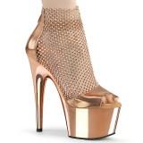 Guldfärgade högklackade skor 18 cm ADORE-765RM glittriga klackar högklackade platåskor