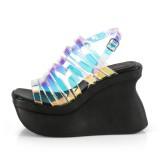 Hologram 11,5 cm Demonia PACE-33 lolita sandaler med platå