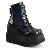 Hologram 11,5 cm SHAKER-52 lolita ankle boots goth wedge platform