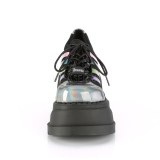 Hologram 12,5 cm STOMP-08 lolita stövletter platå kilklackar
