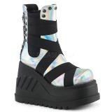 Hologram 12 cm Demonia STOMP-25 gothic platform ankle boots