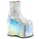 Hologram 18 cm Demonia SLAY-204 gothic platform ankle boots
