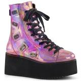 Hologram 7 cm GRIP-103 lolita ankle boots goth wedge platform