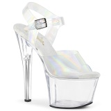 Hologram högklackade skor 18 cm SKY-308N JELLY-LIKE stretchmaterial högklackade platåskor