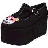 Kitty duk 8 cm CLICK-04-1 goth platåskor lolita skor tjock sula