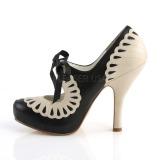 Konstläder 11,5 cm CUTIEPIE-05 Pinup pumps skor med dold platå