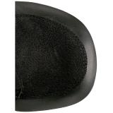 Konstläder 11,5 cm DEMONIA CHARADE-100 goth stövletter med nitar