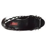 Konstläder 13,5 cm PIXIE-18 dam pumps skor med öppen tå
