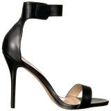 Konstläder 13 cm Pleaser AMUSE-10 högklackade sandaletter