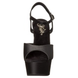 Konstläder 15 cm DELIGHT-609 pleaser high heels skor