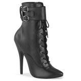 Konstläder 15 cm DOMINA-1023 stiletto ankle boots med höga klackar