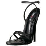 Konstläder 15 cm Devious DOMINA-108 högklackade sandaletter