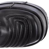 Konstläder 18 cm STACK-308 Platå Goth Stövlar för Män