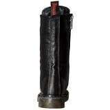 Konstläder 3,5 cm RIVAL-300 Svarta punk stövlar med snörning