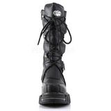 Konstläder 5 cm DMA-3005 Platå Goth Stövlar för Män